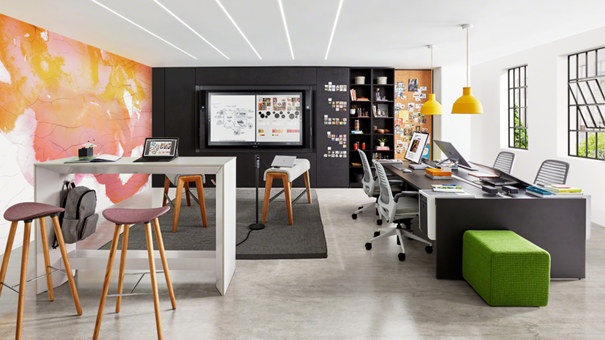 Image of a flexible workspace